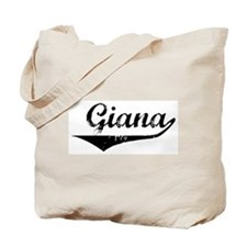 Giana Vintage (Black) Tote Bag