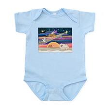 XmasStar/Pekingese (4W) Infant Bodysuit
