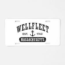 Wellfleet Massachusetts Aluminum License Plate