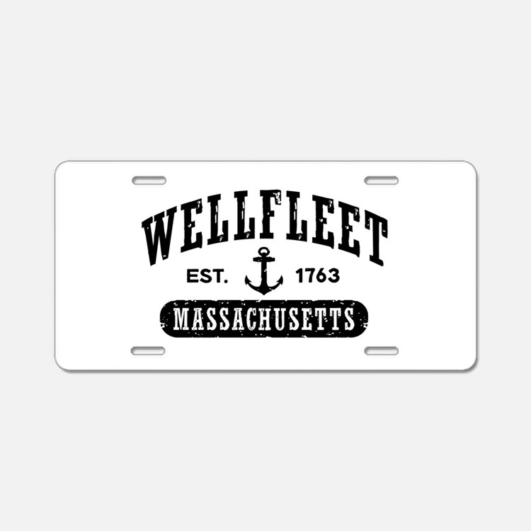 Wellfleet Massachusetts Aluminum License Plate