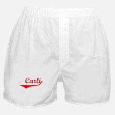 Carli Vintage (Red) Boxer Shorts