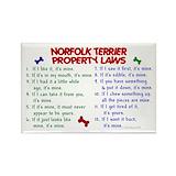 Norfolk terrier magnet Single