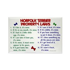 Norfolk Terrier Property Laws 2 Rectangle Magnet (