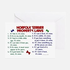 Norfolk Terrier Property Laws 2 Greeting Card