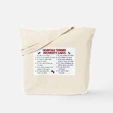 Norfolk Terrier Property Laws 2 Tote Bag