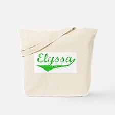 Elyssa Vintage (Green) Tote Bag