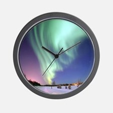 Northern Lights of Alaska Photograph Wall Clock