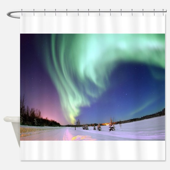 Northern Lights of Alaska Photograp Shower Curtain