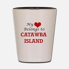 My Heart Belongs to Catawba Island Ohio Shot Glass