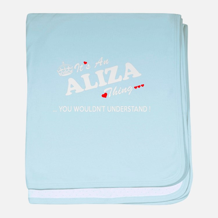 Cute Aliza baby blanket