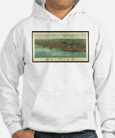 Vintage Pictorial Map of Plymout Hoodie