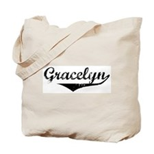 Gracelyn Vintage (Black) Tote Bag