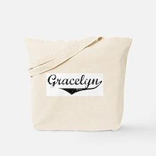 Gracelyn Vintage (Black) Tote Bag