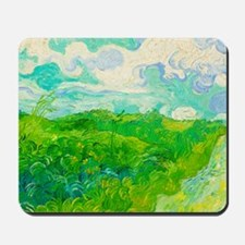 Green Wheat Fields by Vincent van Gogh Mousepad