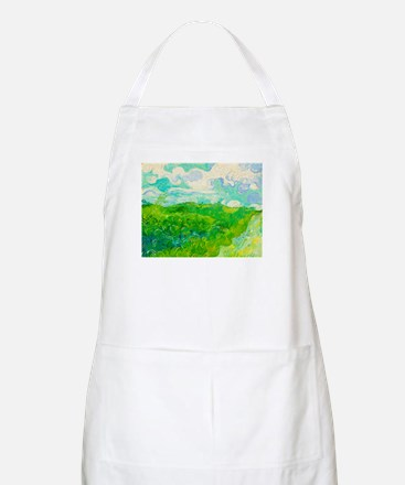 Green Wheat Fields by Vincent van Gogh Apron