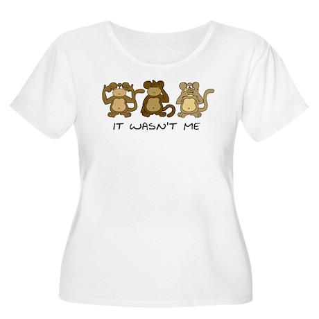 3 MONKEYS Women's Plus Size Scoop Neck T-Shirt