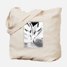 Black & White Lily Close-up Tote Bag