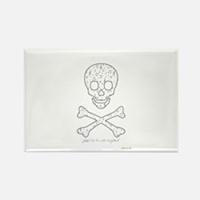 Cute Skull and crossbones Rectangle Magnet (100 pack)