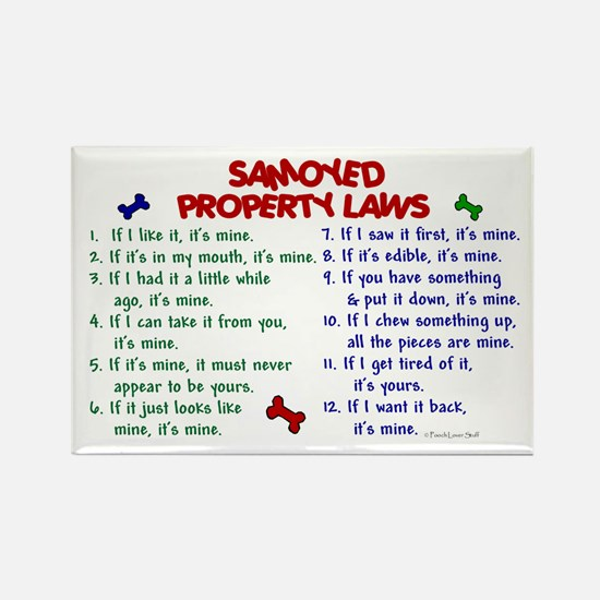 Samoyed Property Laws 2 Rectangle Magnet (10 pack)