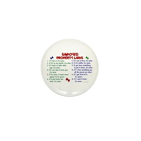 Samoyed Property Laws 2 Mini Button