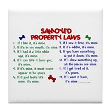 Samoyed Property Laws 2 Tile Coaster