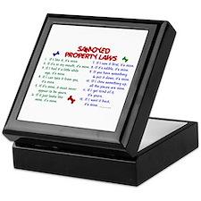 Samoyed Property Laws 2 Keepsake Box