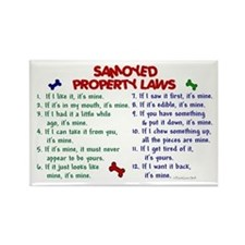 Samoyed Property Laws 2 Rectangle Magnet