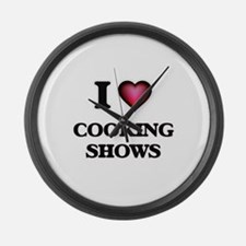 I love Cooking Shows Large Wall Clock