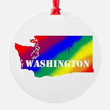 Rainbow Gay Pride Washington Ornament