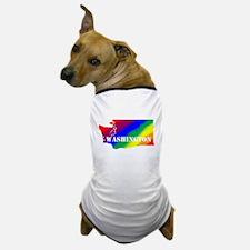 Rainbow Gay Pride Washington Dog T-Shirt