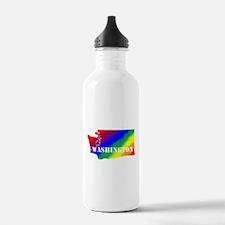 Rainbow Gay Pride Washington Water Bottle