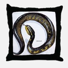 Cottonmouth Snake Throw Pillow