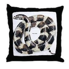 King Snake Throw Pillow