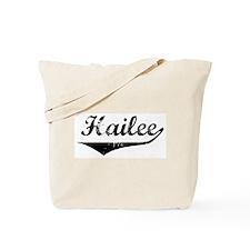 Hailee Vintage (Black) Tote Bag