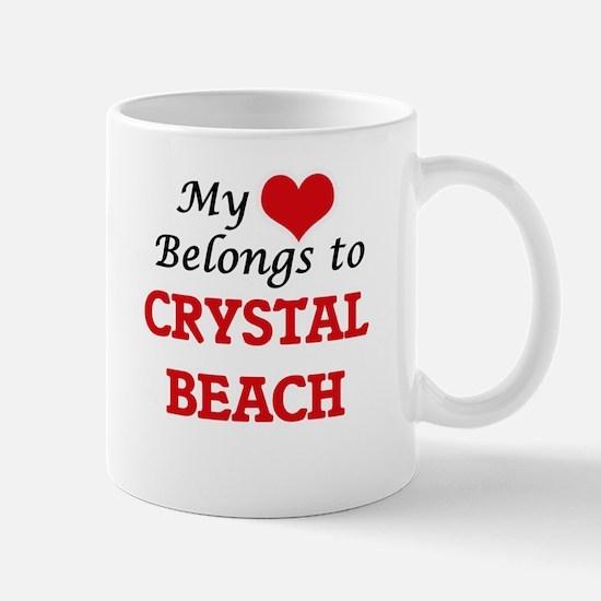 My Heart Belongs to Crystal Beach Texas Mugs