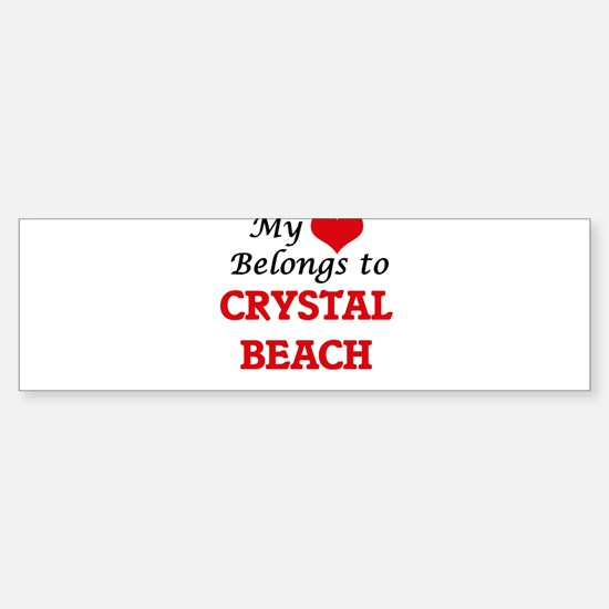My Heart Belongs to Crystal Beach T Bumper Bumper Bumper Sticker