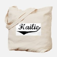 Hailie Vintage (Black) Tote Bag