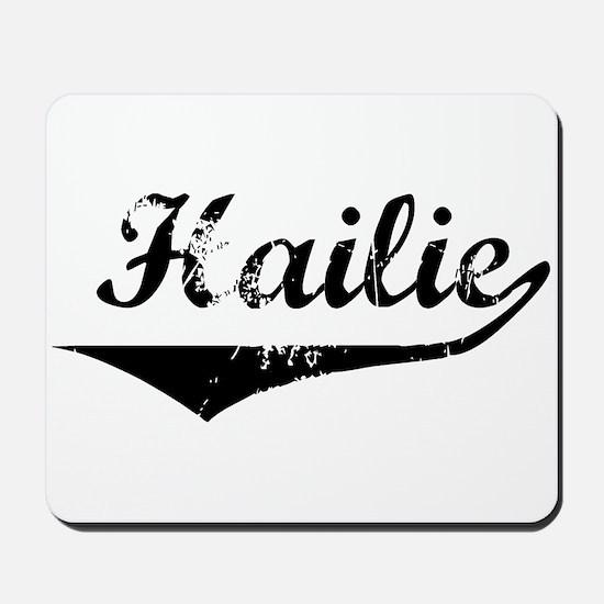 Hailie Vintage (Black) Mousepad
