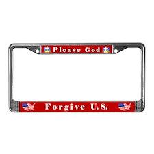 Please God #1 License Plate Frame