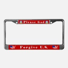 Please God #1 License Plate Frame