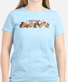Dogs_Ruff_Crowd_B T-Shirt