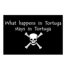 What happens in Tortuga Postcards (Package of 8)