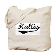 Hallie Vintage (Black) Tote Bag