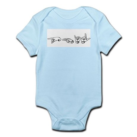 Custom Name in Sign Language Infant Creeper
