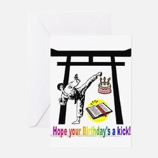 Birthday Kick Greeting Card