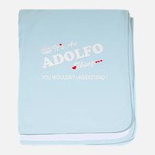 Cute Adolfo baby blanket