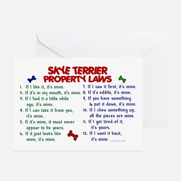 Skye Terrier Property Laws 2 Greeting Card