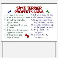 Skye Terrier Property Laws 2 Yard Sign