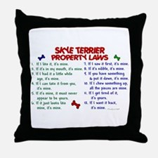 Skye Terrier Property Laws 2 Throw Pillow