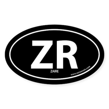 Zaire country bumper sticker -Black (Oval)